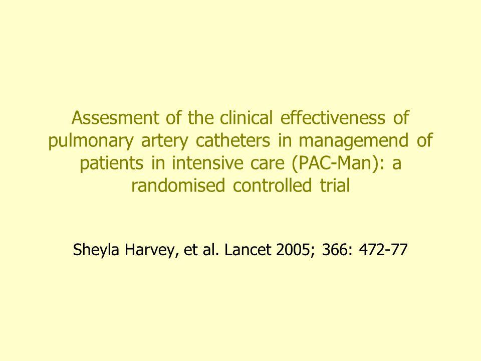 Resultados OR combinada para mortalidad fue 1.04 (IC 95%: 0.9-1.20; P=0.59) No diferencia significativa para la estancia media en UCI El uso de PAC se asocia a un mayor empleo de inotropicos (OR 1.58; IC 95%: 1.19-2.12; P=0.002) y vasodilatadores intravenosos (OR:2.35; IC 95%: 1.175-3.15; P< 0.001)