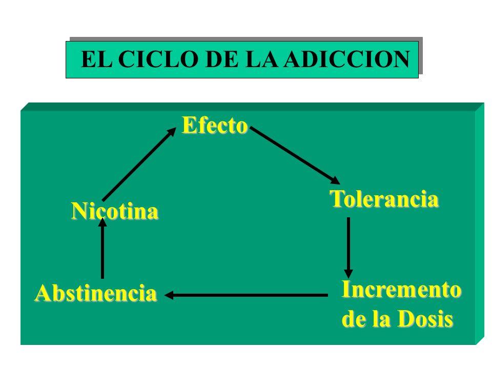 La nicotina, poderoso agente farmacológico con un nivel muy alto de toxicidad, responsable de la adicción al tabaquismo.