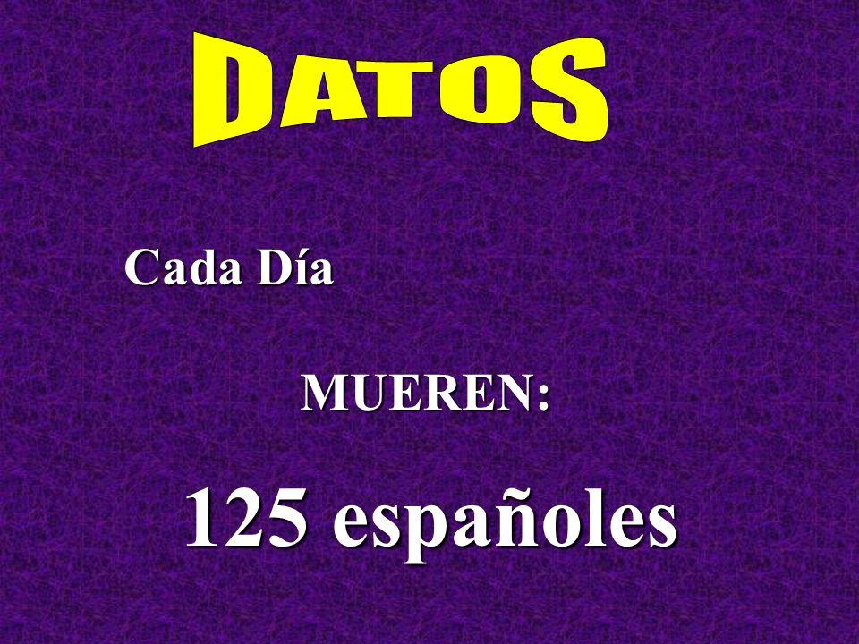 Cada Día MUEREN: 125 españoles