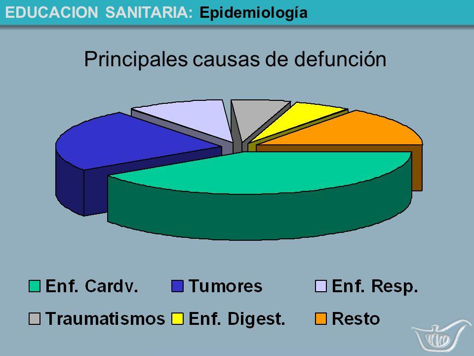 EDUCACION SANITARIA: Epidemiología Principales causas de defunción