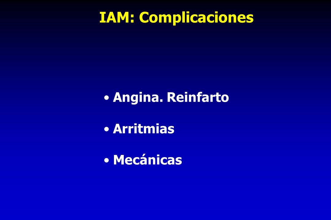 IAM: Complicaciones Angina. Reinfarto Arritmias Mecánicas