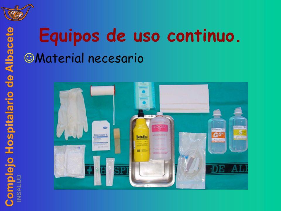 Complejo Hospitalario de Albacete INSALUD Equipos de uso continuo. Material necesario