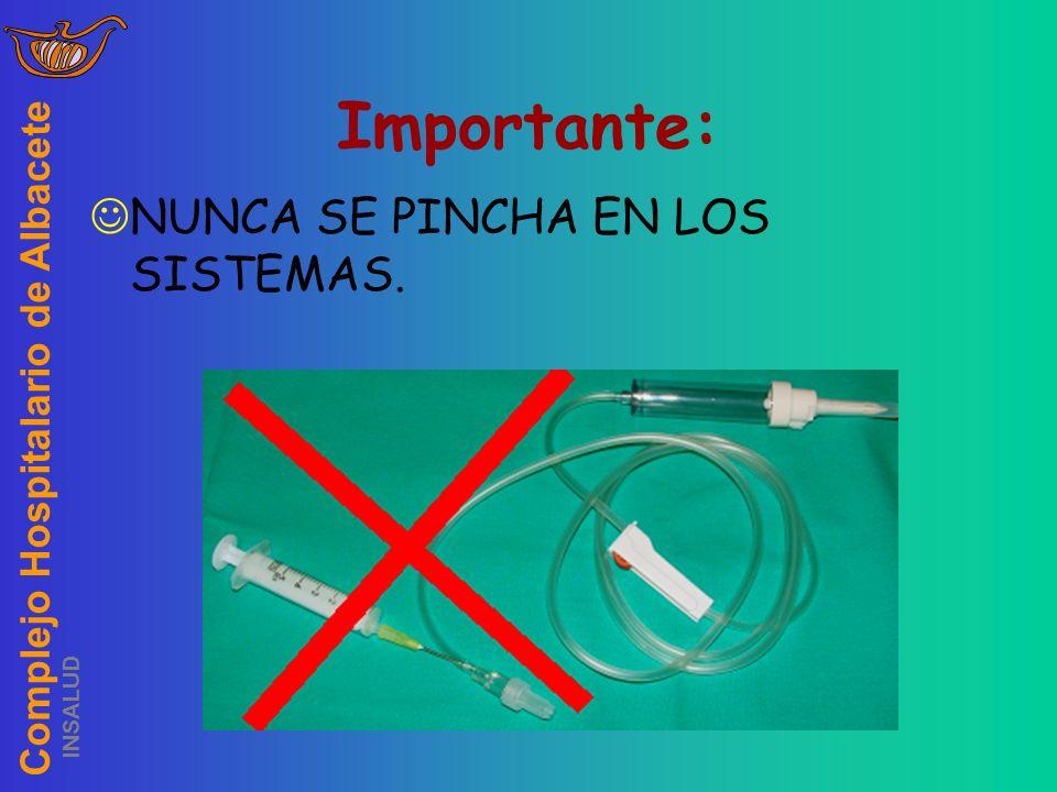Complejo Hospitalario de Albacete INSALUD Importante: NUNCA SE PINCHA EN LOS SISTEMAS.