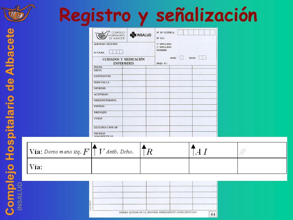 Complejo Hospitalario de Albacete INSALUD Vía Registro y señalización