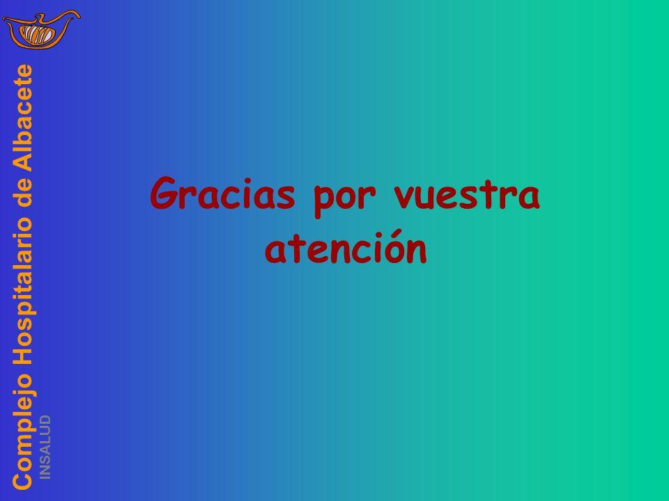 Complejo Hospitalario de Albacete INSALUD Gracias por vuestra atención