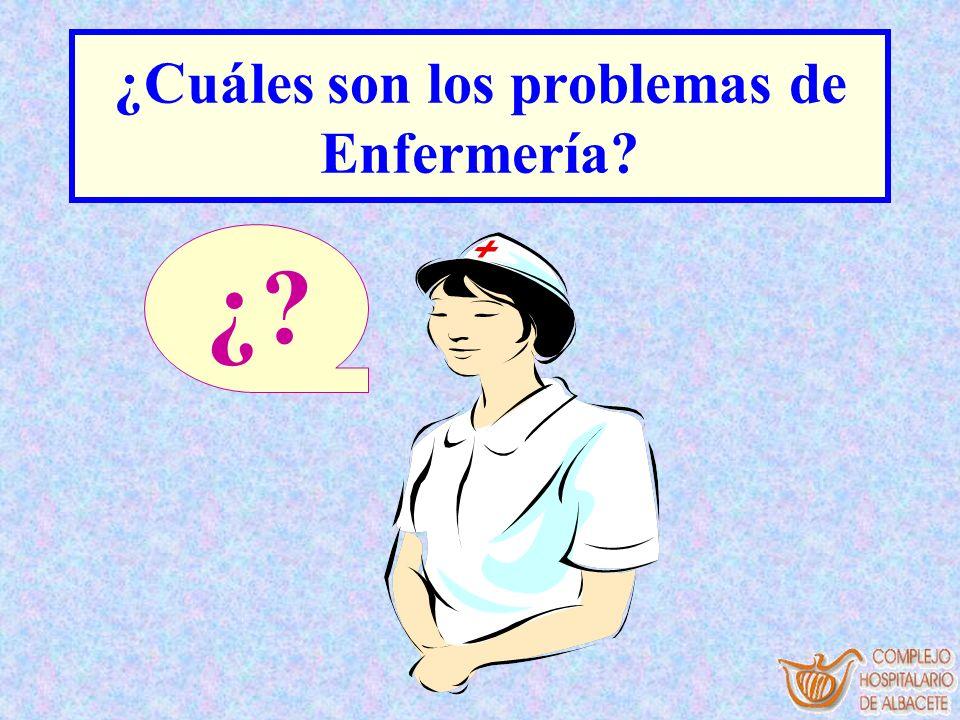 ¿Cuáles son los problemas de Enfermería? ¿?