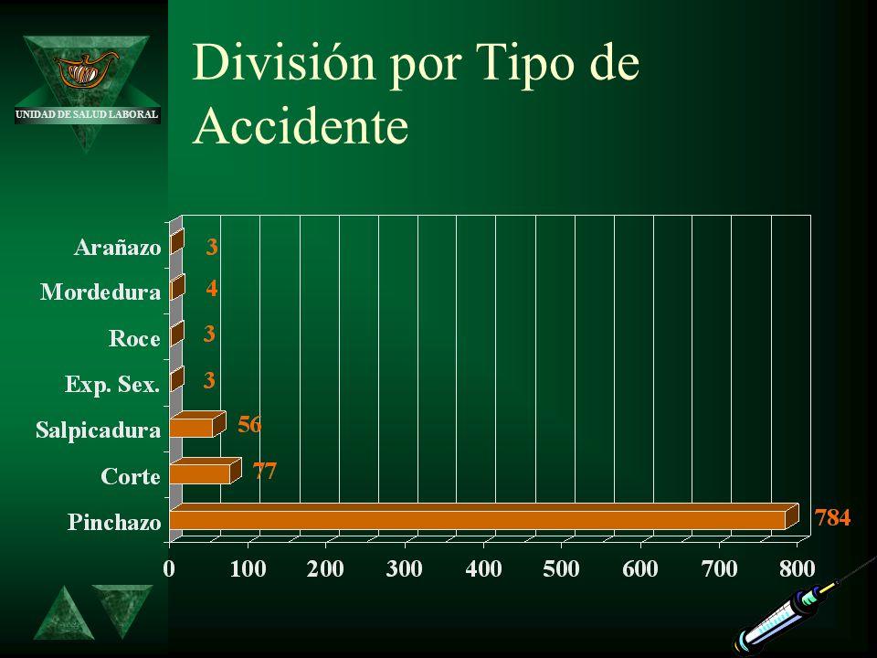 UNIDAD DE SALUD LABORAL División por Tipo de Accidente