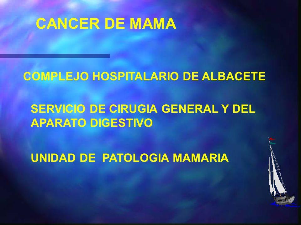 CANCER DE MAMA SERVICIO DE CIRUGIA GENERAL Y DEL APARATO DIGESTIVO UNIDAD DE PATOLOGIA MAMARIA COMPLEJO HOSPITALARIO DE ALBACETE