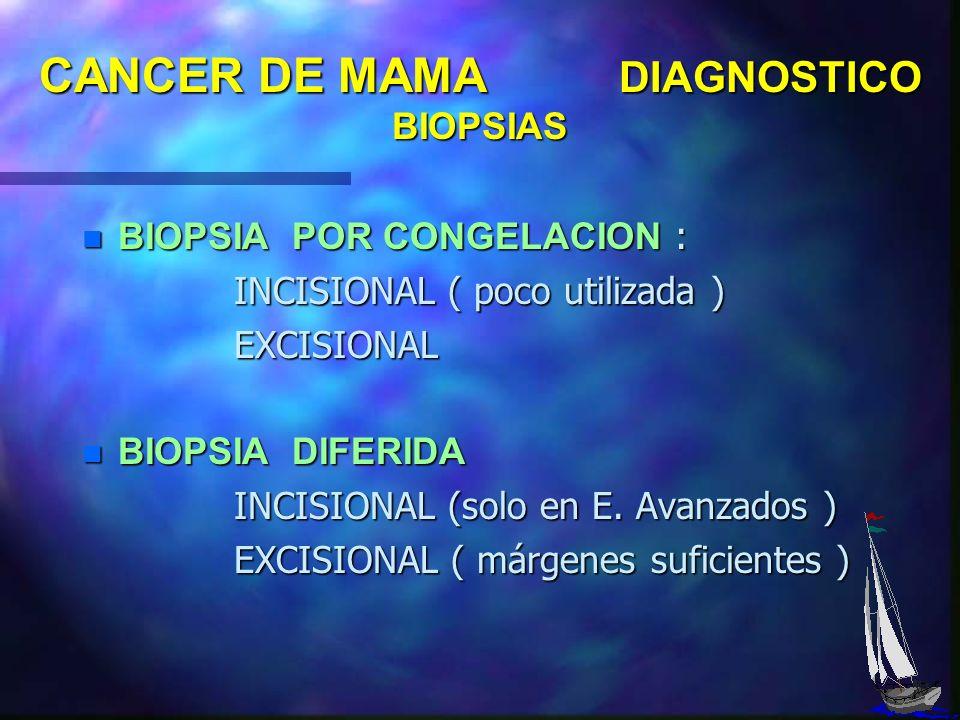 CANCER DE MAMA DETECCION CLINICA SIGNOS FRECUENTES : - TUMOR FRECUENTES : - TUMOR - INDURACION - DERRAME POR EL PEZON - INDURACION - DERRAME POR EL PE