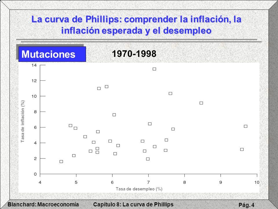 Capítulo 8: La curva de PhillipsBlanchard: Macroeconomía Pág. 4 La curva de Phillips: comprender la inflación, la inflación esperada y el desempleo Mu
