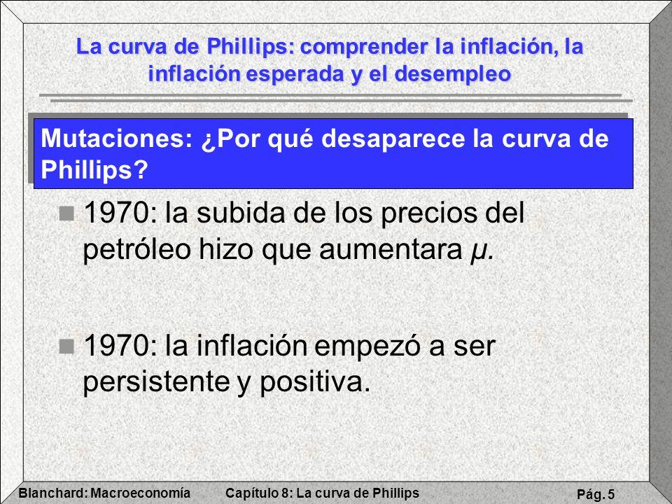 Capítulo 8: La curva de PhillipsBlanchard: Macroeconomía Pág. 5 La curva de Phillips: comprender la inflación, la inflación esperada y el desempleo Mu