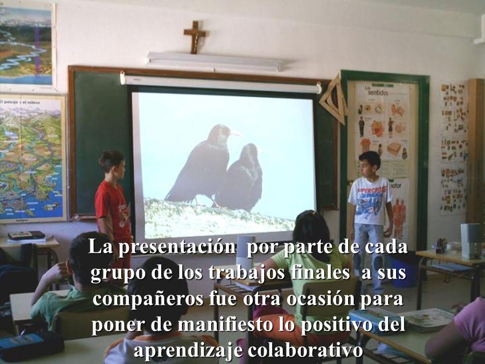 La presentación por parte de cada grupo de los trabajos finales a sus compañeros fue otra ocasión para poner de manifiesto lo positivo del aprendizaje