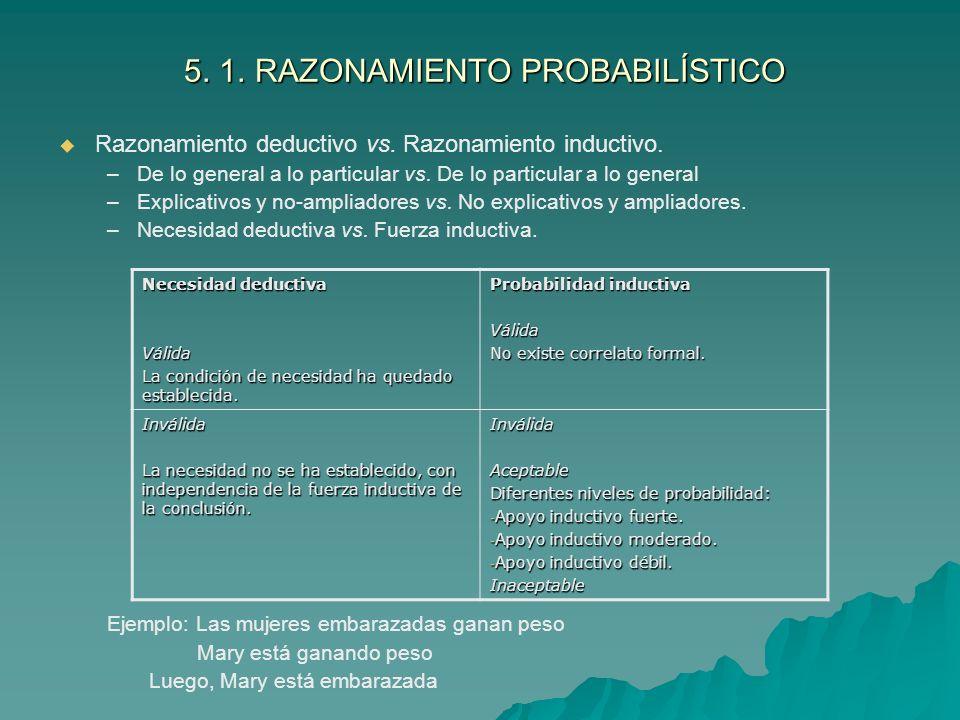 5.1. RAZONAMIENTO PROBABILÍSTICO 5. 1.