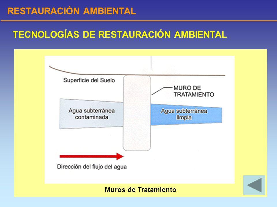 RESTAURACIÓN AMBIENTAL TECNOLOGÍAS DE RESTAURACIÓN AMBIENTAL Muros de Tratamiento