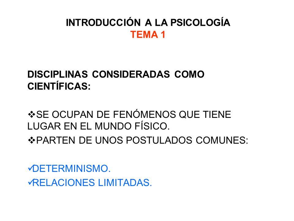 INTRODUCCIÓN A LA PSICOLOGÍA TEMA 1 POSEEN UNOS OBJETIVOS GENERALES COMUNES: DESCRIPTIVO.
