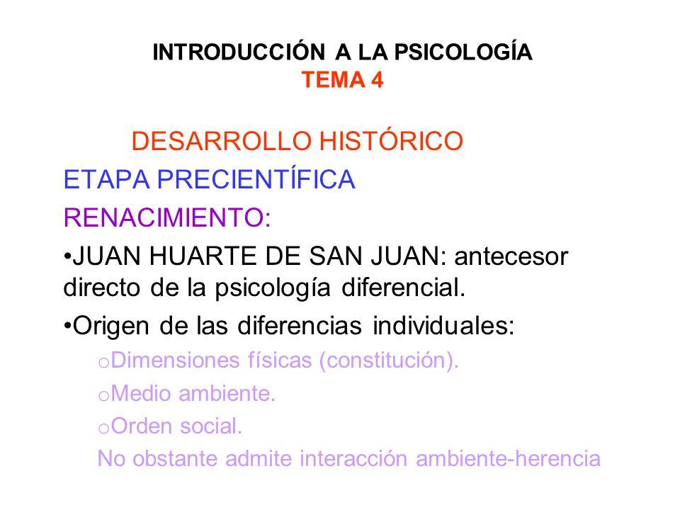 INTRODUCCIÓN A LA PSICOLOGÍA TEMA 4 DESARROLLO HISTÓRICO ETAPA CIENTÍFICA: CONSOLIDACIÓN EL PAPEL DE ESCUELAS LOS PSICÓLOGOS AMERICANOS: los trabajos surgen en la Universidad de Columbia, la figura más importante : James Mckeen Cattell: primer catedrático de psicología del mundo, contribuye enormemente al surgimiento de la psicología diferencial