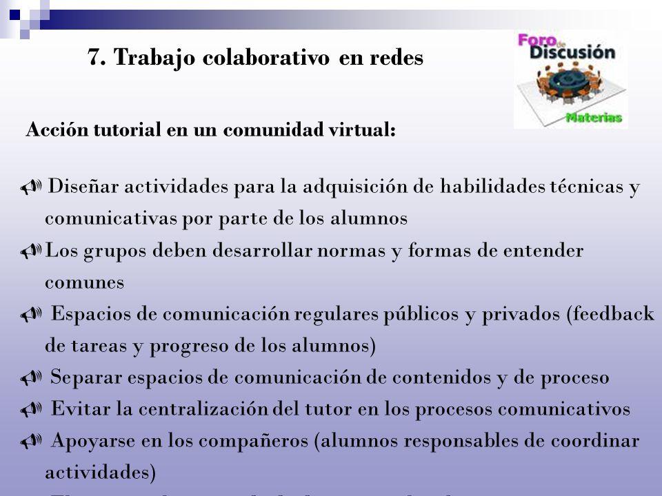 Acción tutorial en un comunidad virtual: Diseñar actividades para la adquisición de habilidades técnicas y comunicativas por parte de los alumnos Los