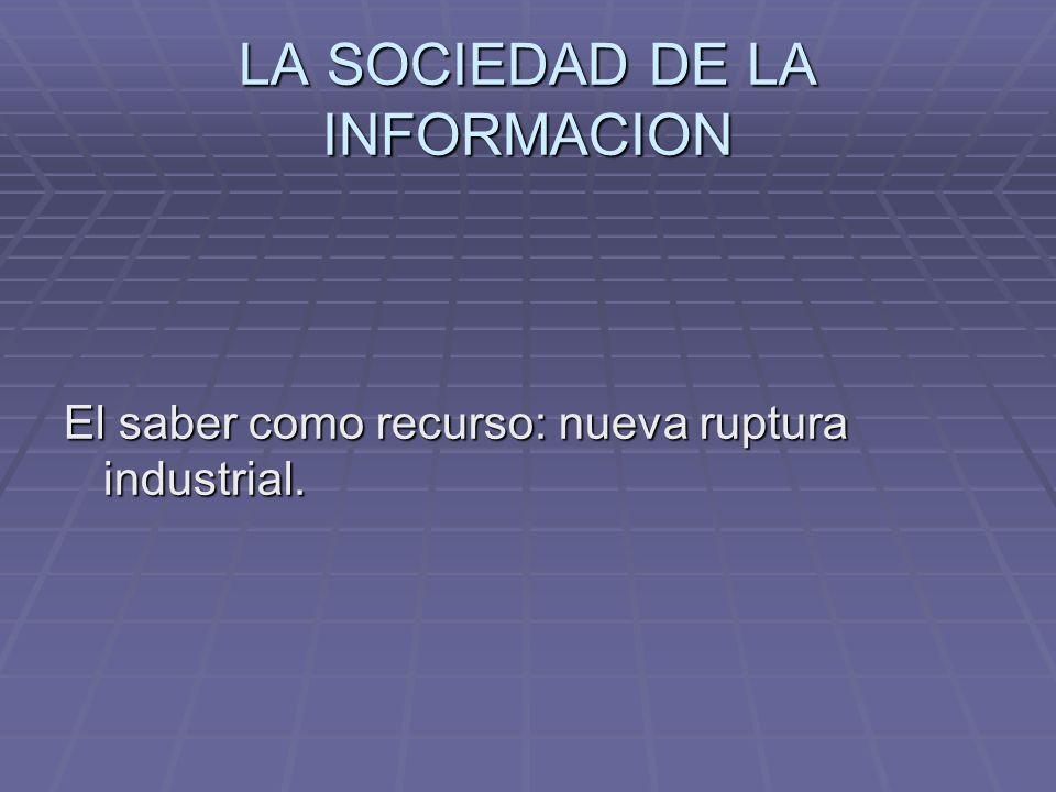 El saber como recurso: nueva ruptura industrial.