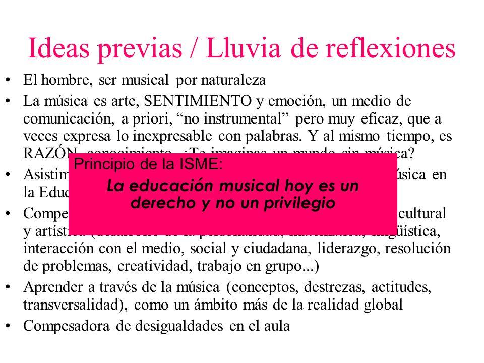 La música en la LOE RD 1513/2006 de enseñanzas mínimas Ed.