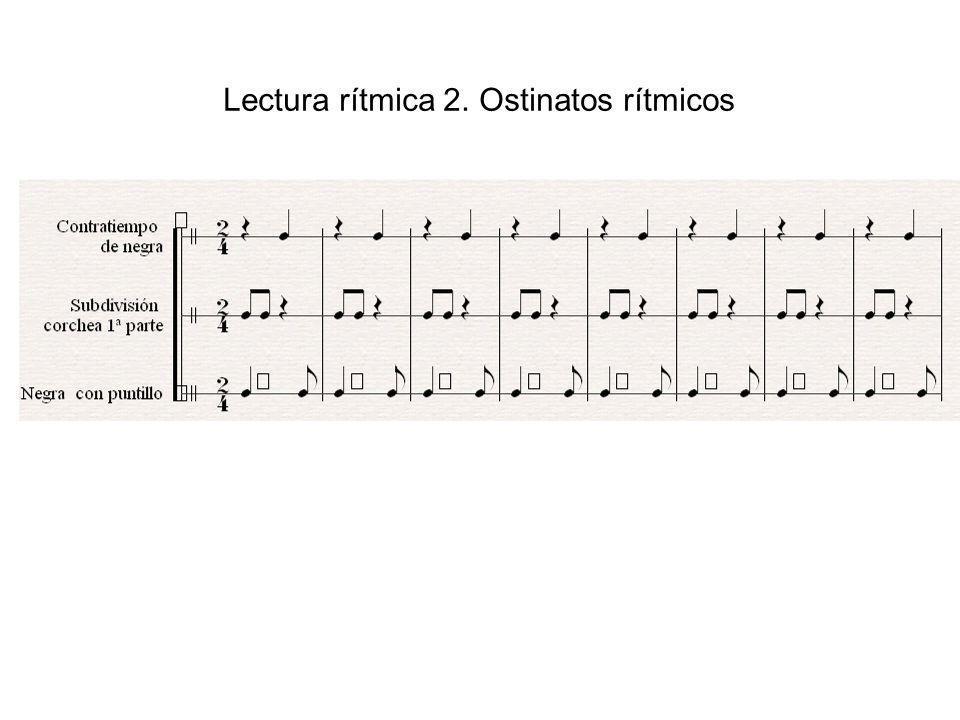 Lectura rítmica 2. Ostinatos rítmicos