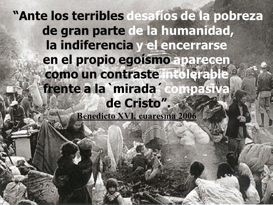 ...sino de hacerse cargo con solidaria solicitud de la miseria presente en el mundo. Juan Pablo II