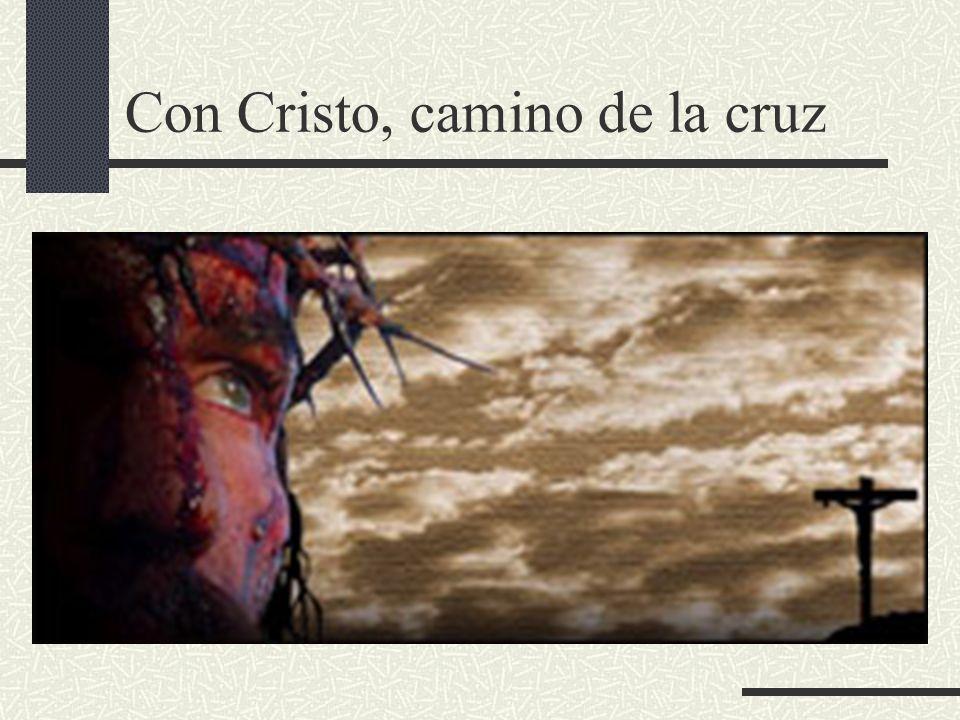 Con Cristo, camino de la cruz