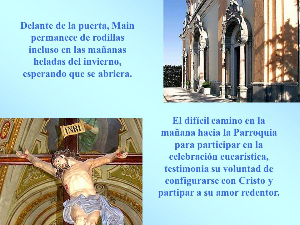 El altar mayor, el punto focal donde confluyen las aspiracione de Maria adolescente y joven.