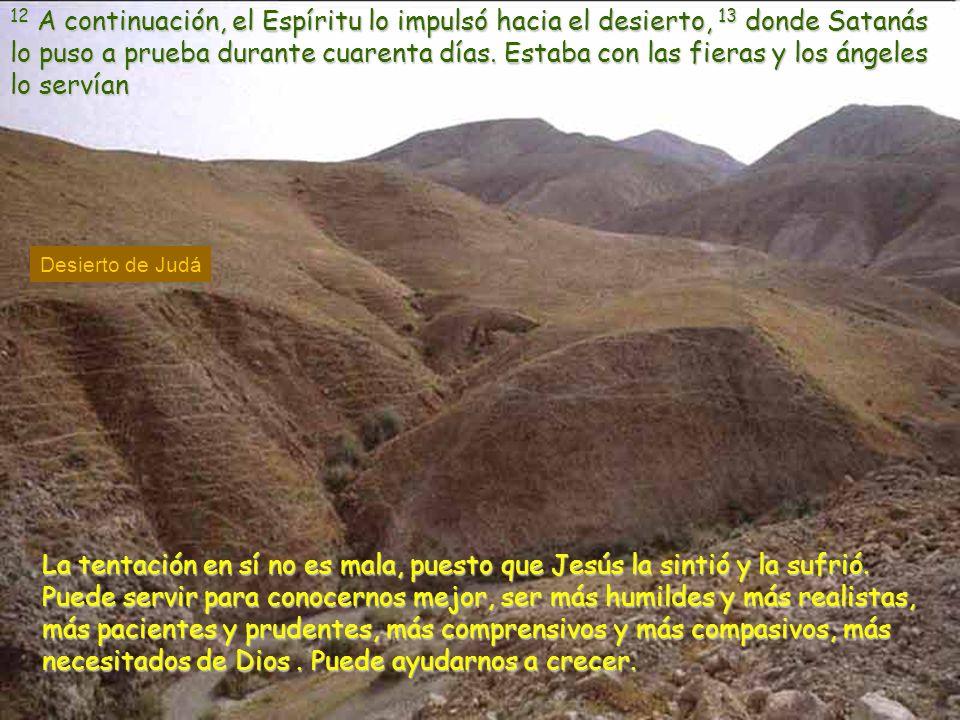Marcos 1, 12-15. I domingo de Cuaresma –B-. 5 marzo de 2006. Que el Espíritu nos conduzca al desierto que Él elija. Que nos dejemos conducir por Él. ¡