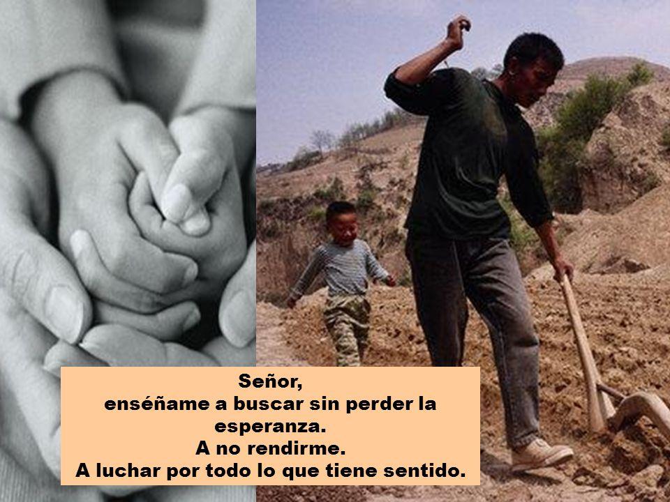 Señor, enséñame a buscar sin perder la esperanza. A no rendirme. A luchar por todo lo que tiene sentido.