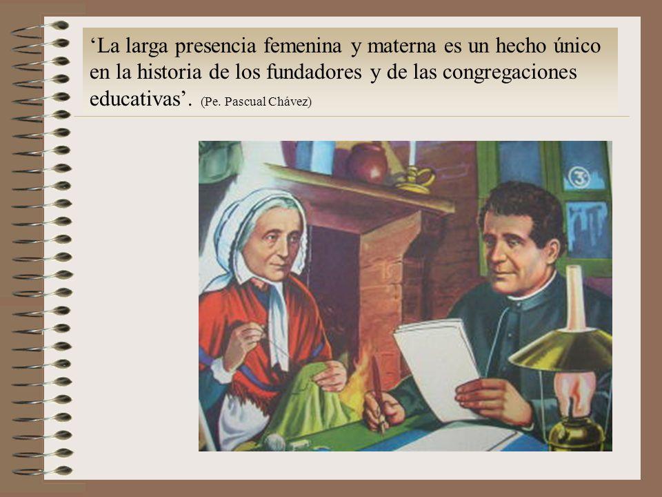 La larga presencia femenina y materna es un hecho único en la historia de los fundadores y de las congregaciones educativas.