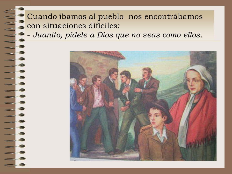 Esa noche, cuando ya se terminó la fiesta y quedamos solos, me dijo: - Piénsatelo bien, Juan: comenzar a decir misa es cmenzar a sufrir!.