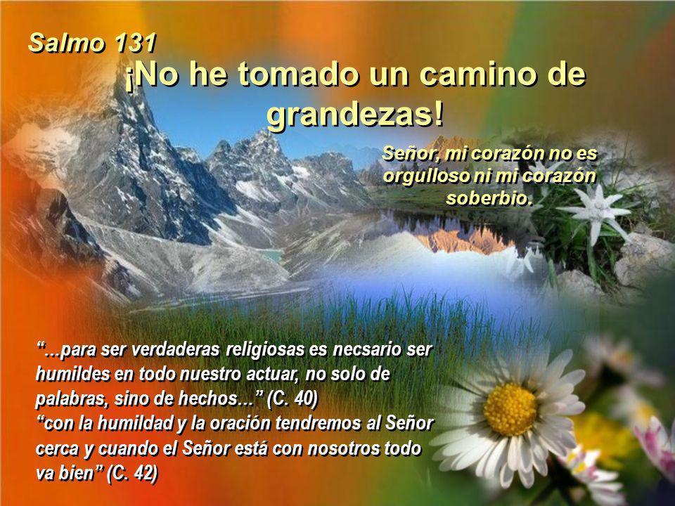 ¡Bendice alma mía al Señor! No os canséis nunca de praticar la virtud, un poco más y estaremos todas juntas en el Paraiso. ¡Que bonita fiesta haremos