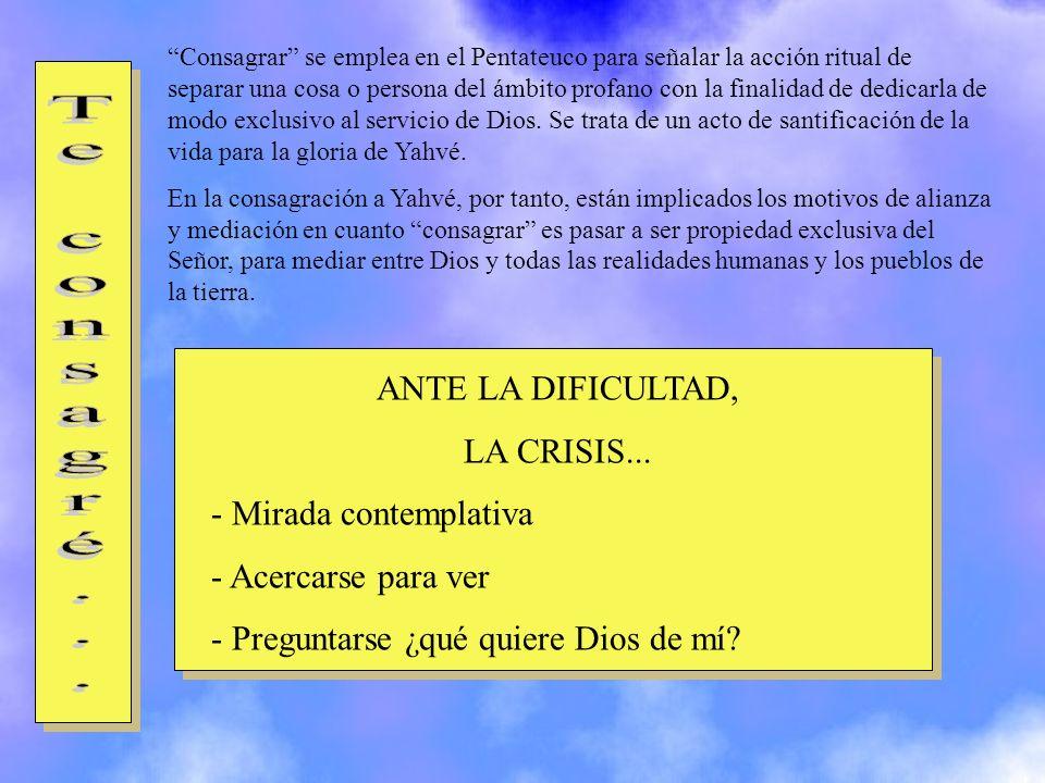 Constituir indica con claridad cuál es la finalidad de las acciones divinas: asignar una misión a su elegido, a su elegida.