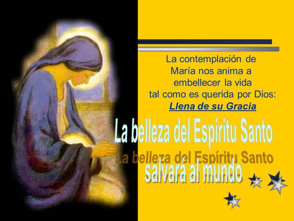 La contemplación de María nos anima a embellecer la vida tal como es querida por Dios: Llena de su Gracia
