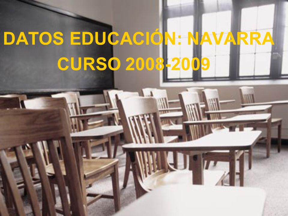 DATOS EDUCACIÓN: NAVARRA CURSO 2008-2009
