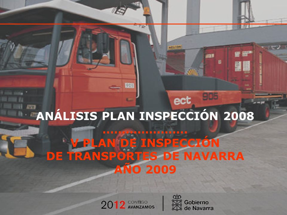 V PLAN DE INSPECCIÓN DE NAVARRA ANÁLISIS PLAN INSPECCIÓN 2008 ………………….