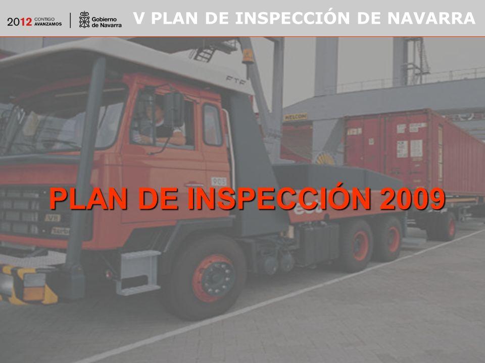 V PLAN DE INSPECCIÓN DE NAVARRA PLAN DE INSPECCIÓN 2009
