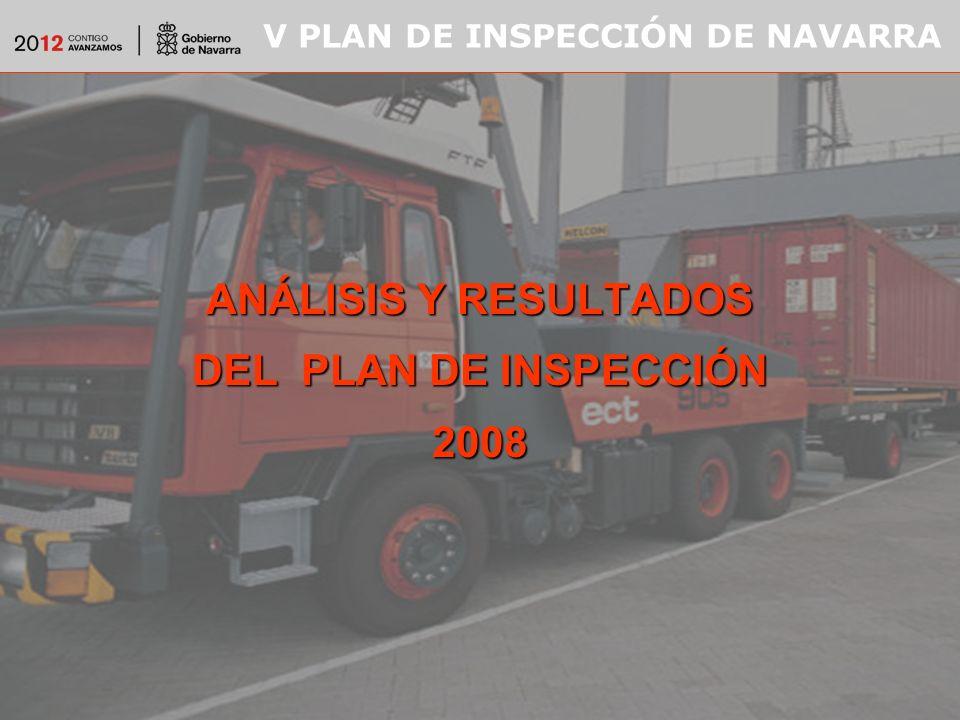 V PLAN DE INSPECCIÓN DE NAVARRA ANÁLISIS Y RESULTADOS DEL PLAN DE INSPECCIÓN 2008