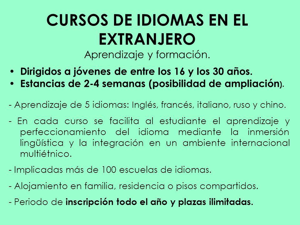 CURSOS DE IDIOMAS EN EL EXTRANJERO Aprendizaje y formación.