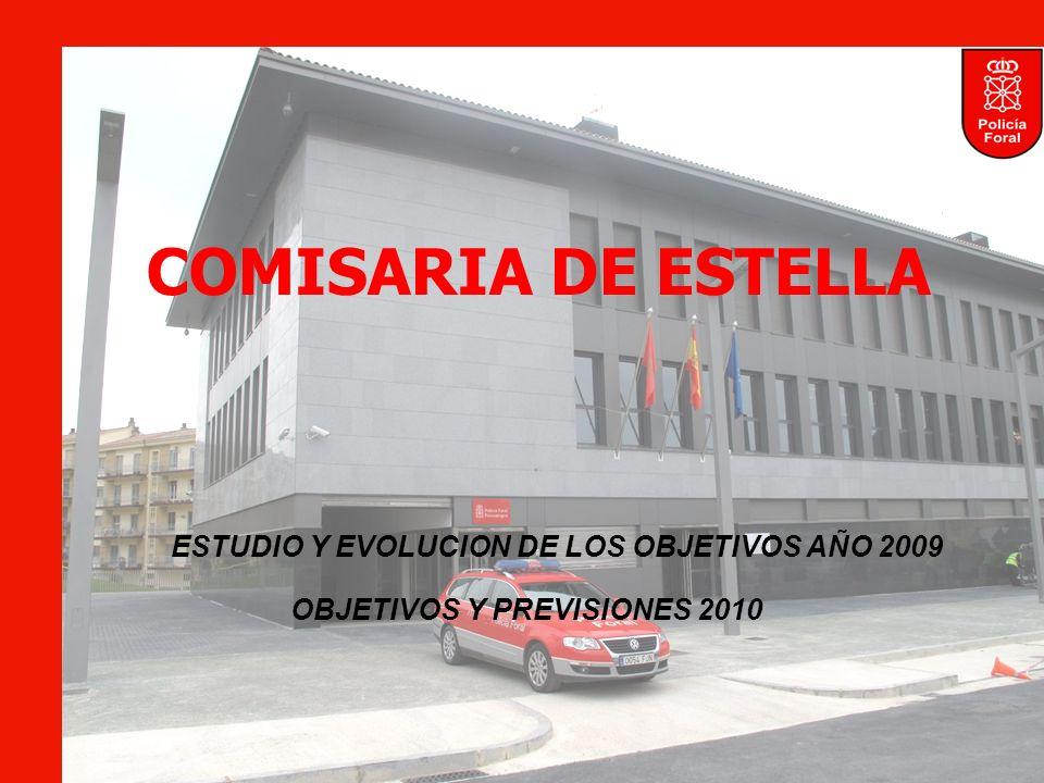COMISARIA DE ESTELLA ESTUDIO Y EVOLUCION DE LOS OBJETIVOS AÑO 2009 OBJETIVOS Y PREVISIONES 2010