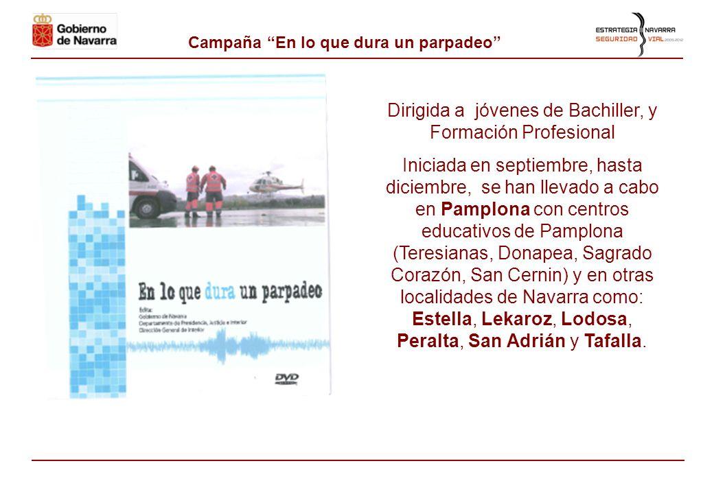 1- 2- Campaña juvenil: En moto y seguro La campaña está dirigida al alumnado de 3º y 4º de ESO, Bachillerato y Ciclos Medios de Formación Profesional.