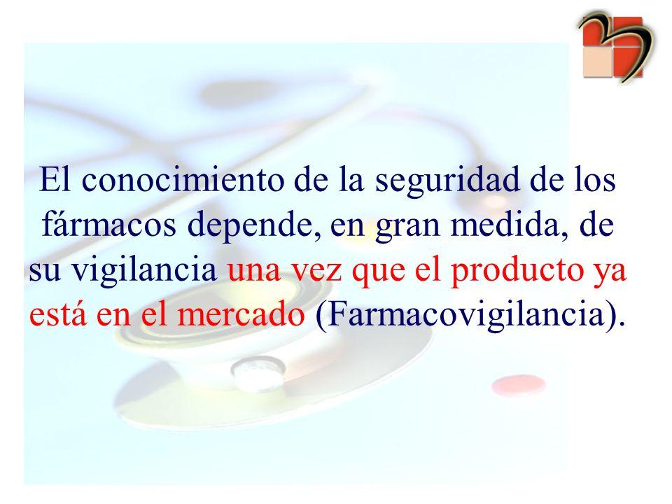 El conocimiento de la seguridad de los fármacos depende, en gran medida, de su vigilancia una vez que el producto ya está en el mercado (Farmacovigila