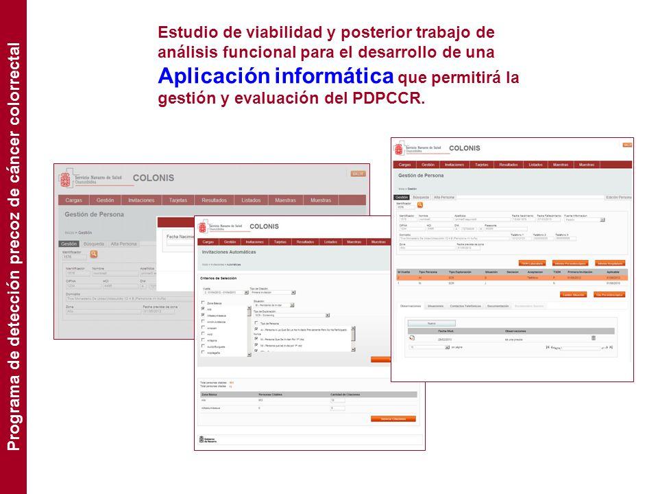 Estudio de viabilidad y posterior trabajo de análisis funcional para el desarrollo de una Aplicación informática que permitirá la gestión y evaluación