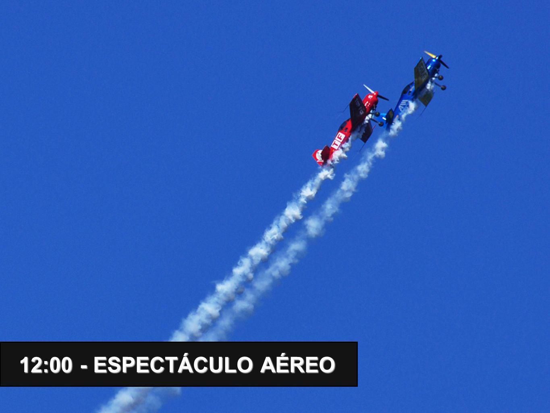 12:00 - ESPECTÁCULO AÉREO