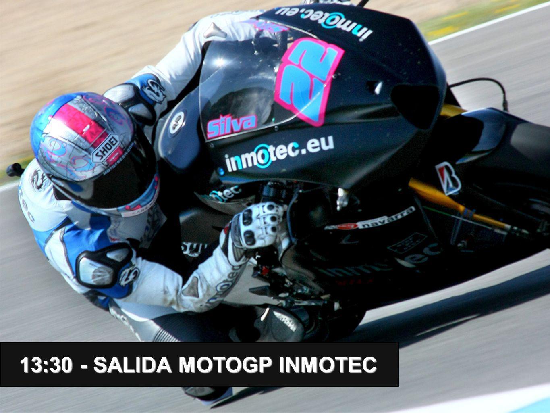 13:30 - SALIDA MOTOGP INMOTEC