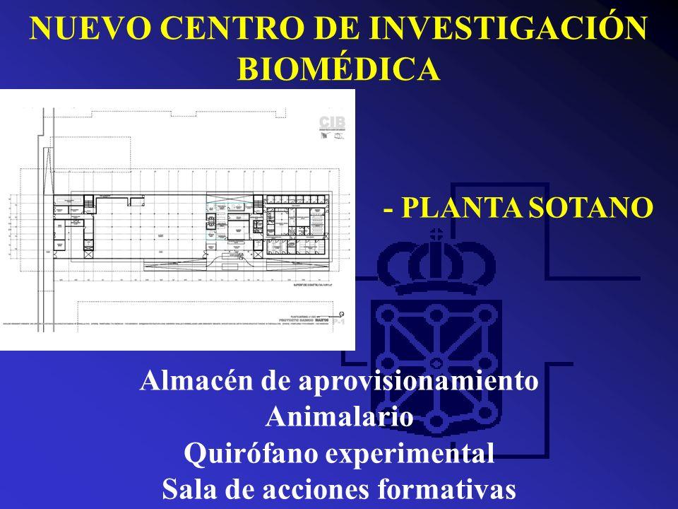 NUEVO CENTRO DE INVESTIGACIÓN BIOMÉDICA - PLANTA BAJA Biblioteca Salón de actos Área administrativa Área de gestión