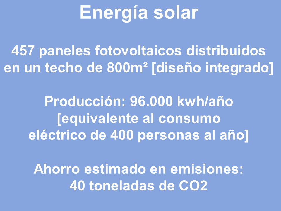 Techo con paneles solares