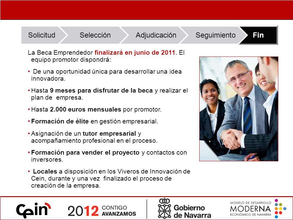 La Beca Emprendedor finalizará en junio de 2011.