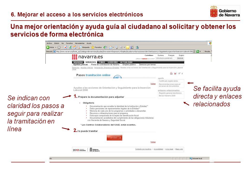 6. Mejora de la accesibilidad de los servicios electrónicos Se ha incorporado un banner en la página inicial con un icono representativo Se ha mejorad