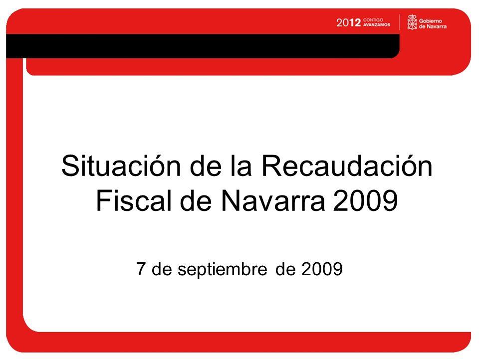 Situación de la Recaudación Fiscal de Navarra 2009 7 de septiembre de 2009